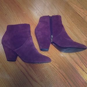 Dolce vita burgundy booties